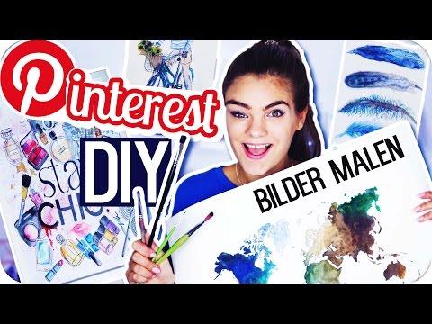 4 PINTEREST DIY's – BILDER MALEN! ◇ Room Deco Inspiration // I'mJette