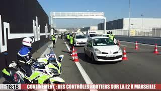 Confinement : des contrôles routiers sur la rocade L2 à Marseille