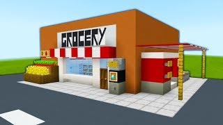 "Minecraft Tutorial: How To Make A Grocery Store ""2020 City Tutorial"""