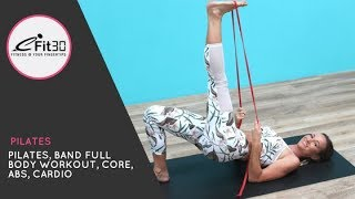 Pilates, Resistance Band Full Body Workout  20 Mins with Caity