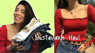 Sustainable clothing haul /REFORMATION TRY-ON review