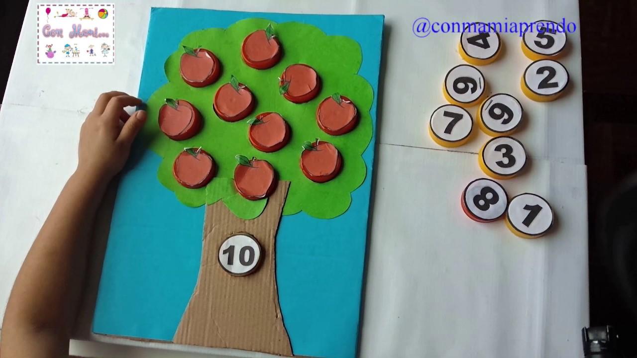 Actividad Matematica Colocamos Las Manzanas En El Arbol Para Ninos