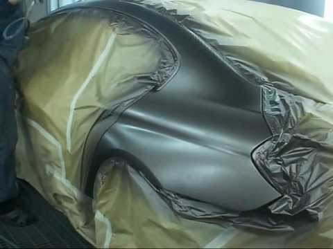 покраска матовым лаком BMW 640