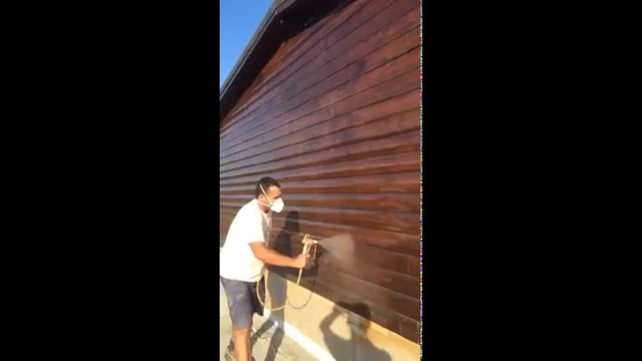 Pintar casa de madera youtube for Casas de madera