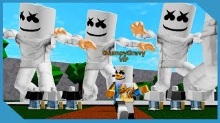 Giant Marshmello Dance Party in Roblox