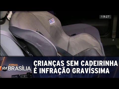 Transportar crianças sem cadeirinha é infração gravíssima | Jornal SBT Brasília 21/05/2018