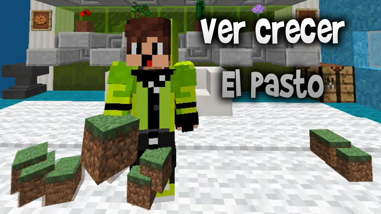 Como Crece El Pasto En Minecraft Youtube