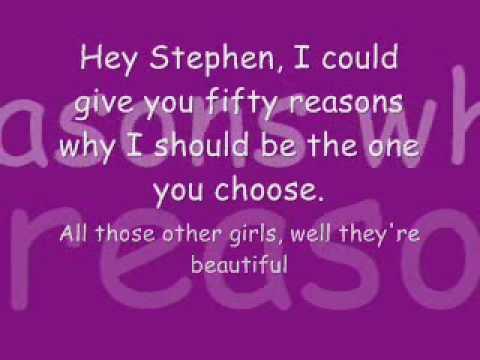 Hey Stephen By Taylor Swift ♥ (lyrics on screen.)