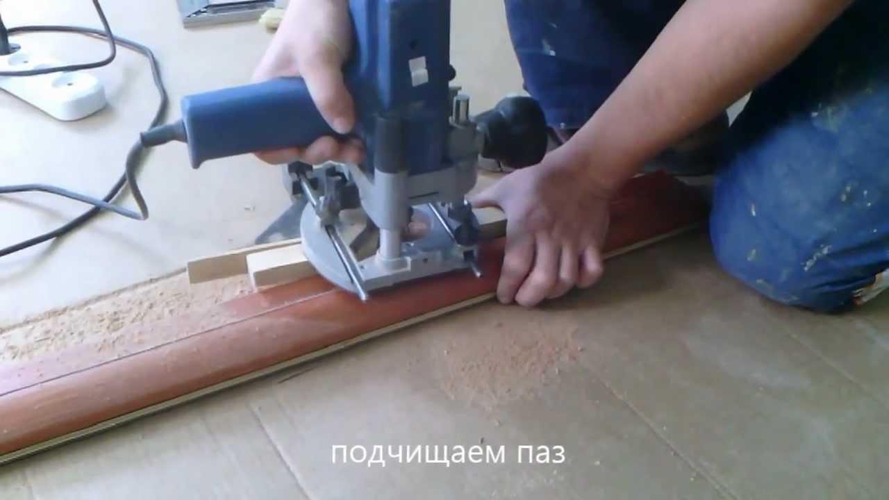 врезка петель фрезером (в дверную коробку) - YouTube