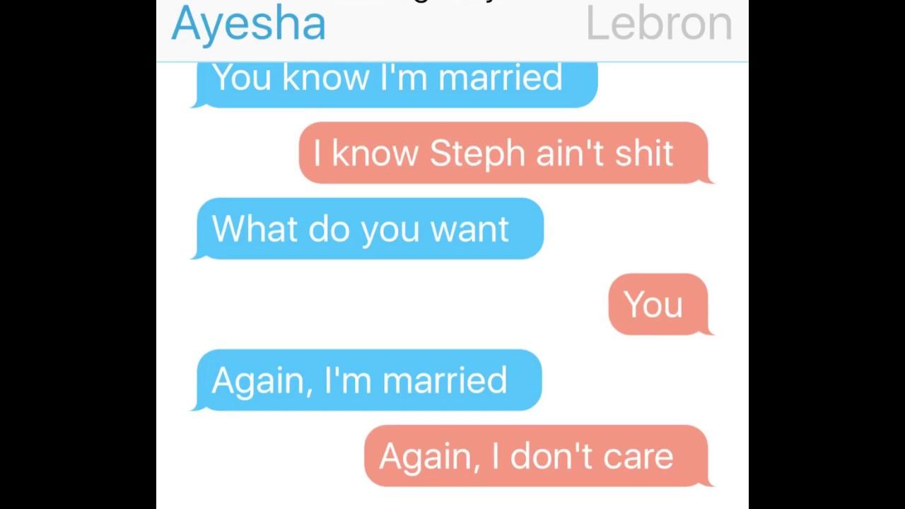 Lebron James texting Ayesha Curry - YouTube