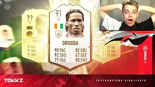 ICON DROGBA! TOP 100 FUT CHAMPIONS HIGHLIGHTS! FIFA 20 Ultimate Team