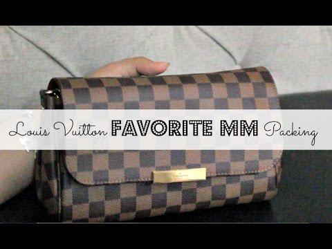 Louis Vuitton Damier Ebene Favorite MM Packing | WIMB | Kat Nguyen