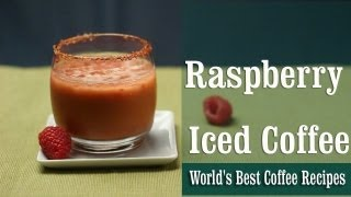 Raspberry Iced Coffee | World's Best Coffee Recipes