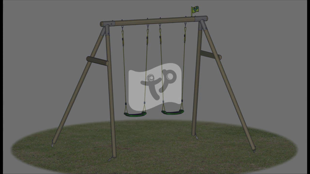 how to build tp802 double roundwood swing frame youtube