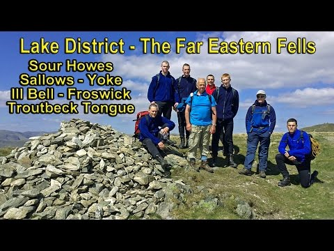 Lake District - Far Eastern Fells - Sour Howes, Sallows, Yoke, Ill Bell, Froswick, Troutbeck Tongue