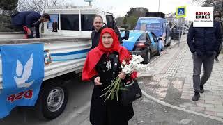 DSP Adayı Zeynep Çiçek'ten seçim konvoyu
