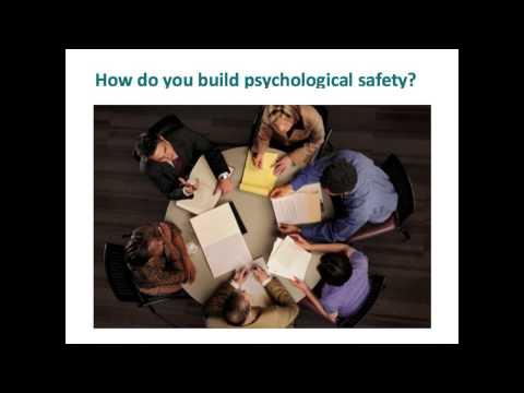 Building a Psychologically Safe Workplace by Amy Edmondson