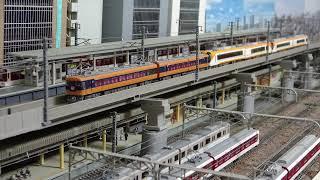 近鉄特急  異形式ブツ6 (12200系+22600系+22000系)    鉄道模型(N scale model) ジオラマ( My layout)