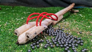 Technology To Create The Most Powerful Slingshot From Wooden - Wood Art