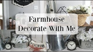 FARMHOUSE DECORATE WITH ME 2019 | SPRING DECORATING IDEAS