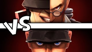 UberCharged Medic + Soldier VS Scout (Team Fortress 2 Gameplay) [demize]