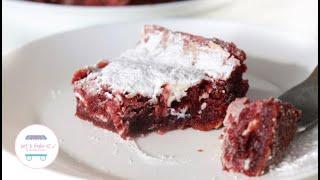 БРАУНИ КРАСНЫЙ БАРХАТ С БЕЛЫМ ШОКОЛАДОМ И СЛИВОЧНЫМ СЫРОМ fudgy red velvet brownie recipe