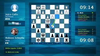 Chess Game Analysis: Jojco Gallo - Robson Scheylla : 0-1 (By ChessFriends.com)