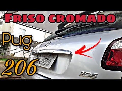 3d931ffc7 Troca do friso porta malas peugeot 206 207 e como remover marca de cola car  80