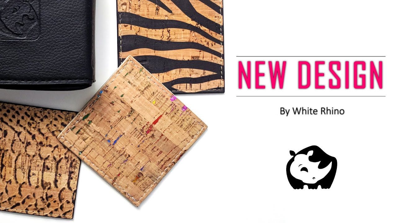 Cork Leather Coasters | by White Rhino | Ethical Design