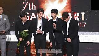 [ENG CC SUB] NU'EST W Hot Performance Speech 올해의핫퍼포먼스상 수상 소감 뉴이스트W @ 가온차트 Gaon Chart Music Awards