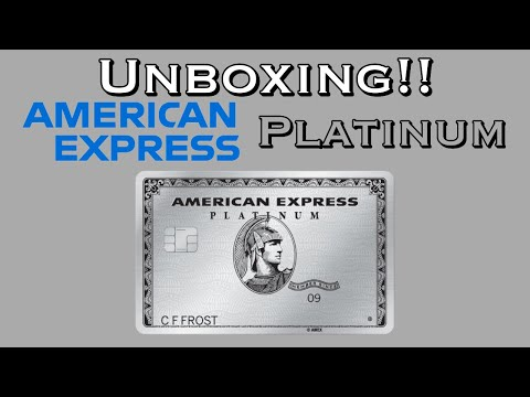 Unboxing New American Express Platinum Card