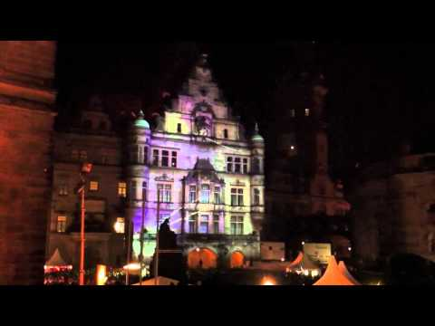 Stadtfest Dresden Multimedia 3D Lasershow - Intel Visibly Smart Experience