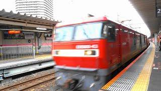 〔4K UHD|cc〕JR貨物・武蔵野線:武蔵浦和駅、「EH500形」牽引貨物列車/走行シーン。
