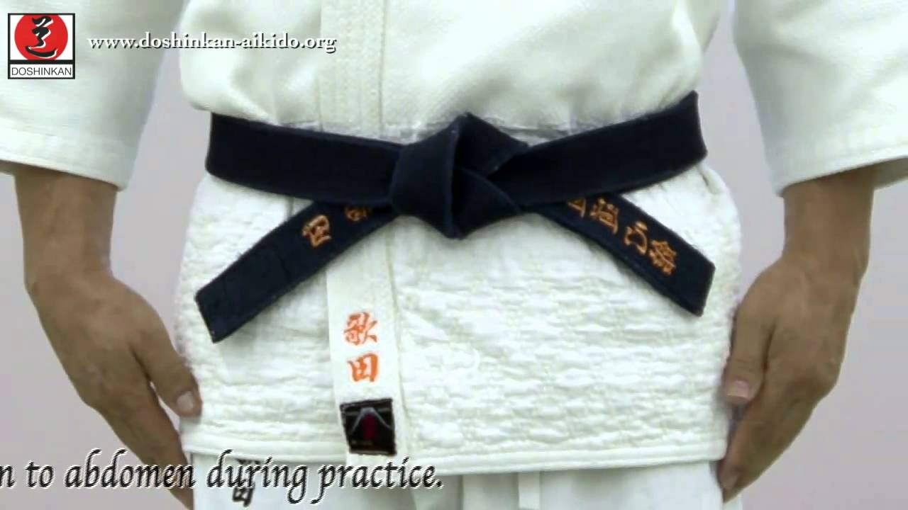 Aikido How To Tie Your Belt Black Belt Wiki