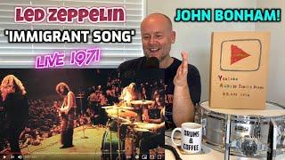 Drum Teacher Reacts: JOHN BONHAM   Led Zeppelin: 'The Immigrant Song' (Live in Orlando 1971)