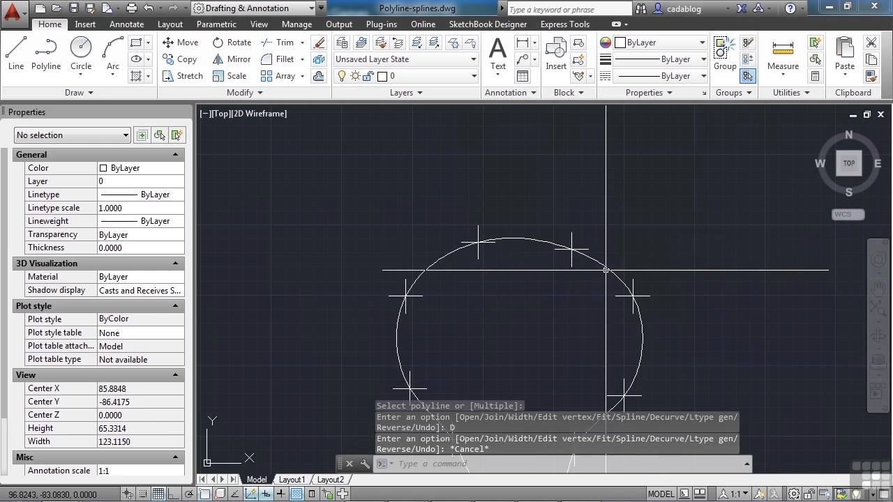 Autocad 2013 tutorial spline in hindi Urdu(18-50) By MNRAQ - Video ...
