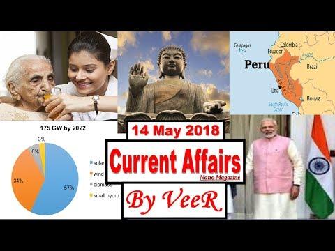 14 May 2018 - PIB, Yojana, AIR News-Nano Magazine-NASA,Trump,Black money, RBI- Current Affairs VeeR