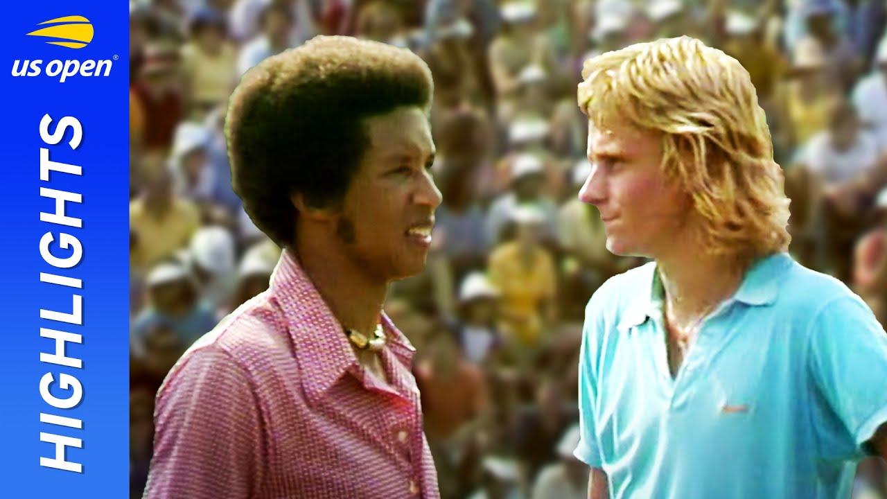 Bjorn Borg v Arthur Ashe in a breatkthrough match! | US Open 1973 Round 3
