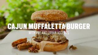 Cajun Muffaletta Burger Recipe