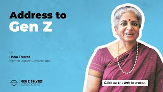 Message to #GenZ - Usha Thorat, Former Deputy Governor, RBI | #SolversInteractive