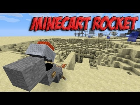 How To Make A Minecart TNT Rocket Missile | Minecraft Tutorial