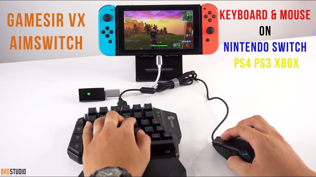 02c6ef7e667 [BROSTUDIO] Hands On Gamesir VX AimSwitch - KEYBOARD AND MOUSE ON Nintendo  Switch PS4 PS3 XBOX
