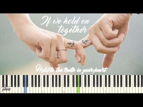 If We Hold On Together (Lyrics) ♫ Piano Tutorial Easy | An piano