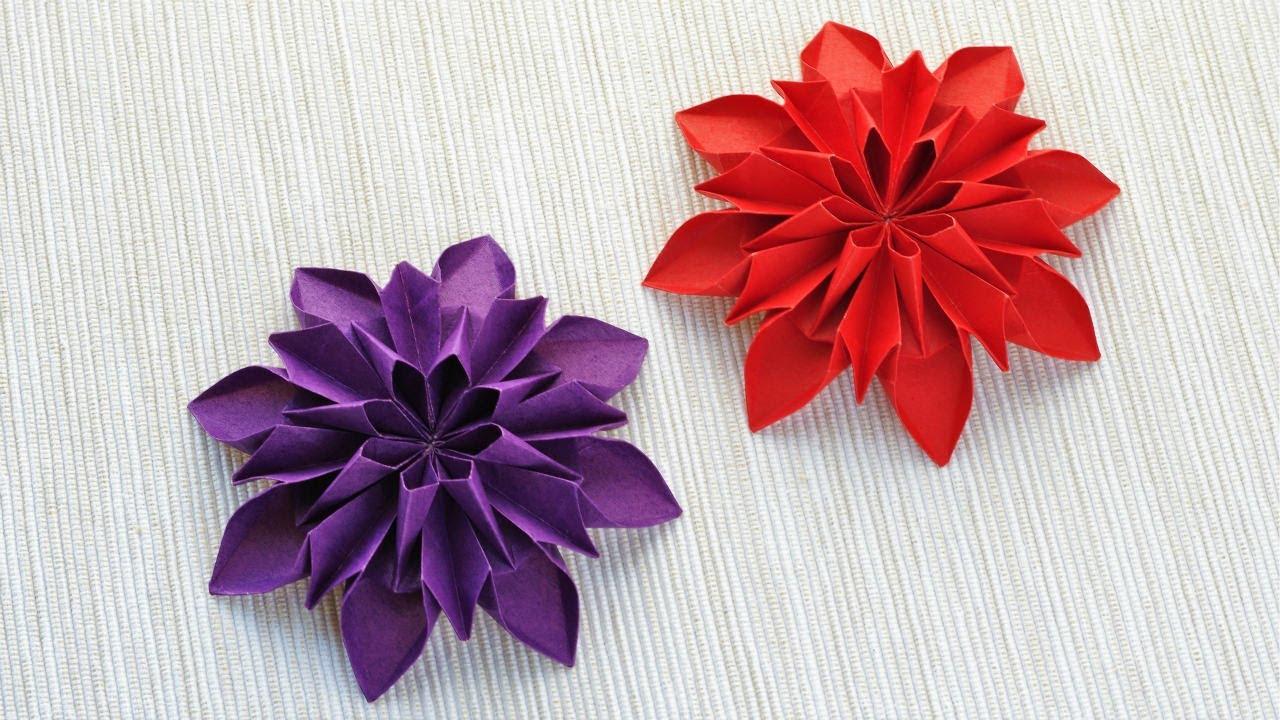 すべての折り紙 折り紙菊の折り方 : ... 花 菊の折り方 作り方 - YouTube