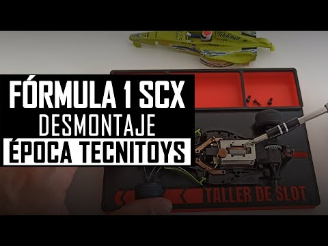 🏎️ FÓRMULA 1 SCALEXTRIC【 DESMONTAJE 】Cómo DESMONTAR F1 de Época Tecnitoys ¡PASO a PASO!