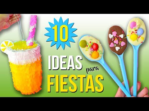10 IDEAS para FIESTAS INFANTILES * Decoraciones FÁCILES, Rápidas y Económicas(II)