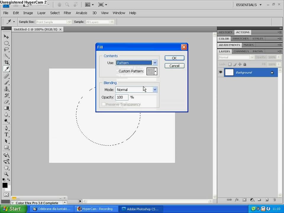 Jak narysować koło i okrąg w Adobe Photoshop - YouTube