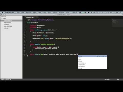 Build a Wordpress Custom Post Type Class