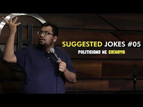 Politicians Ne Sikhaya | Suggested Jokes #5 | Stand-up Comedy by Rueben Kaduskar