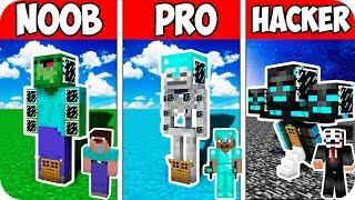Minecraft NOOB vs PRO vs HACKER : SECRET BLOCK BASE INSIDE MUTANTS | 100% TROLLING CHALLENGE